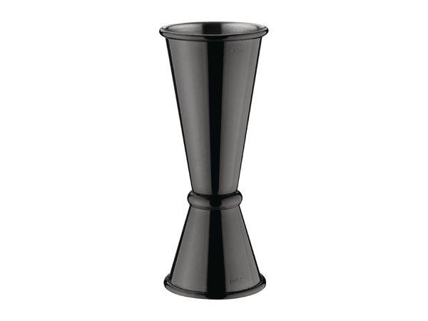 Olympia Barmaatje RVS | Zwart Model | 2,5 en 5cl | Ø39x(H)95mm