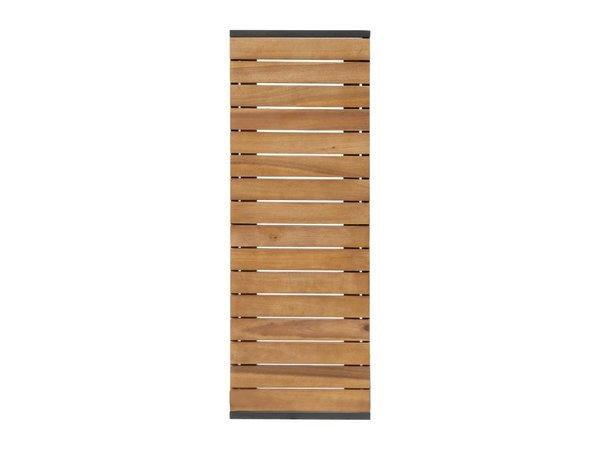 Bolero Acaciahouten Banken met Stalen Behuizing | 1000x350x(H)450mm | Per 2 Stuks