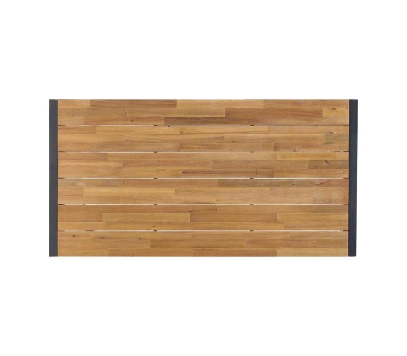 Bolero Acaciahouten Industriële Tafel met Stalen Behuizing | 1800x900x(H)740mm
