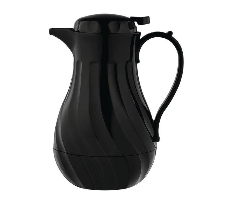 Olympia Swirl Isoleerkan Zwart | 2 Liter | Ø182x(H)284mm