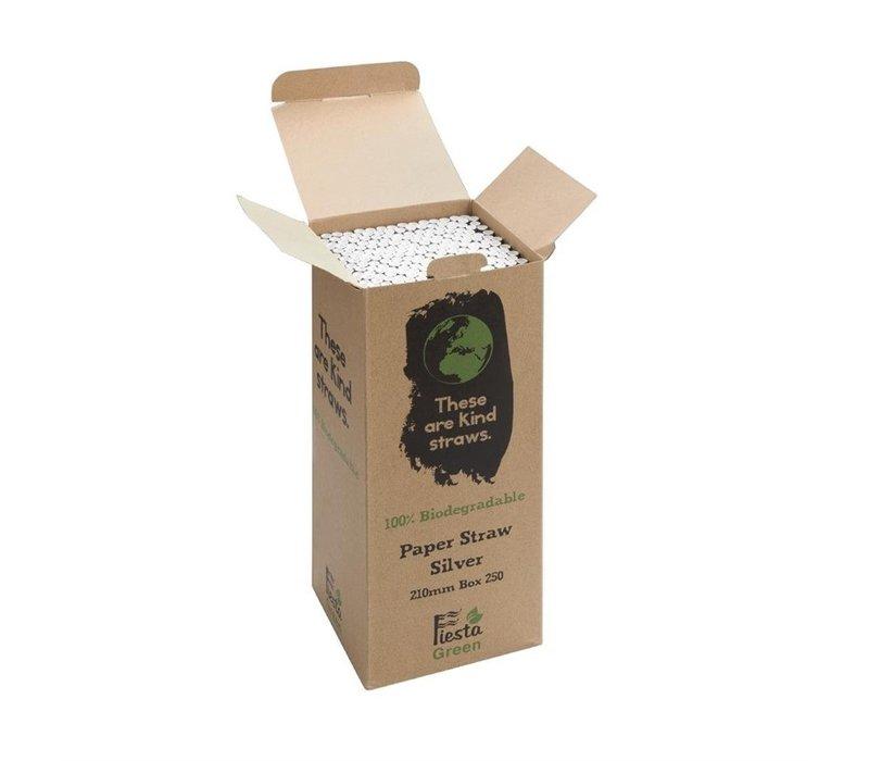 Fiesta Green Biologisch Afbreekbare Papiere Rietjes    210mm   Per 250 Stuks   Beschikbaar in 5 Kleuren