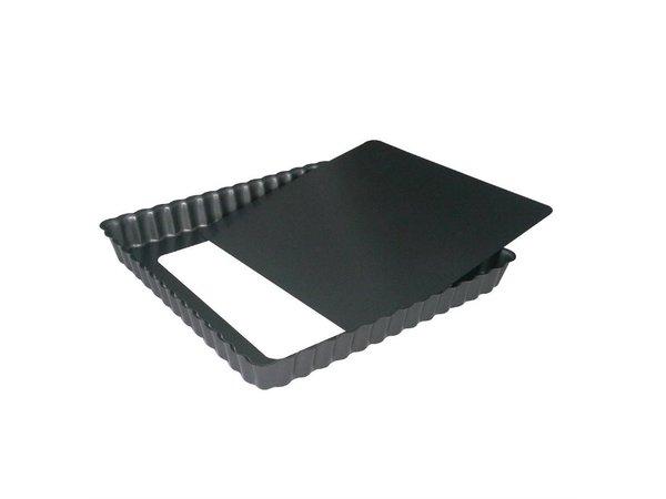 De Buyer Vierkante Taartvorm | Antikleef met Losse bodem | Beschikbaar in 2 Maten