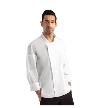 Chef Works Urban Chef's jacket Urban Hartford Unisex | Zipper closure Long Sleeves White | Available in 5 sizes