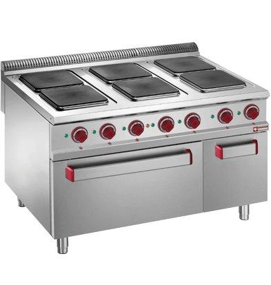 Diamond Elektrisch Fornuis | Elektrische Oven | 6 Kookplaten | 26kW | 1200x900x(H)850/920mm