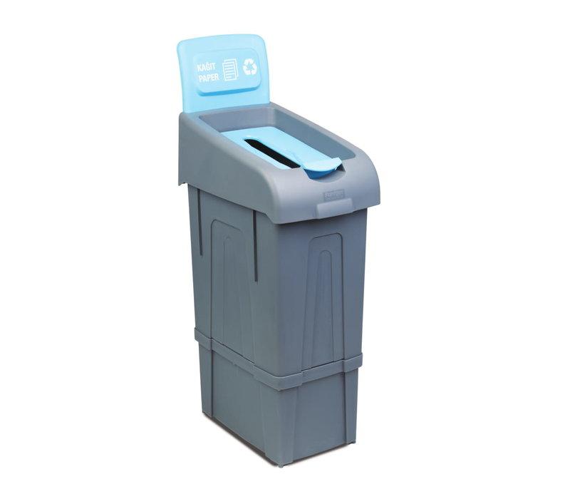 Combisteel Afvalbak voor het Scheiden van Papier | 80 Liter  | 340x550x(H)1050