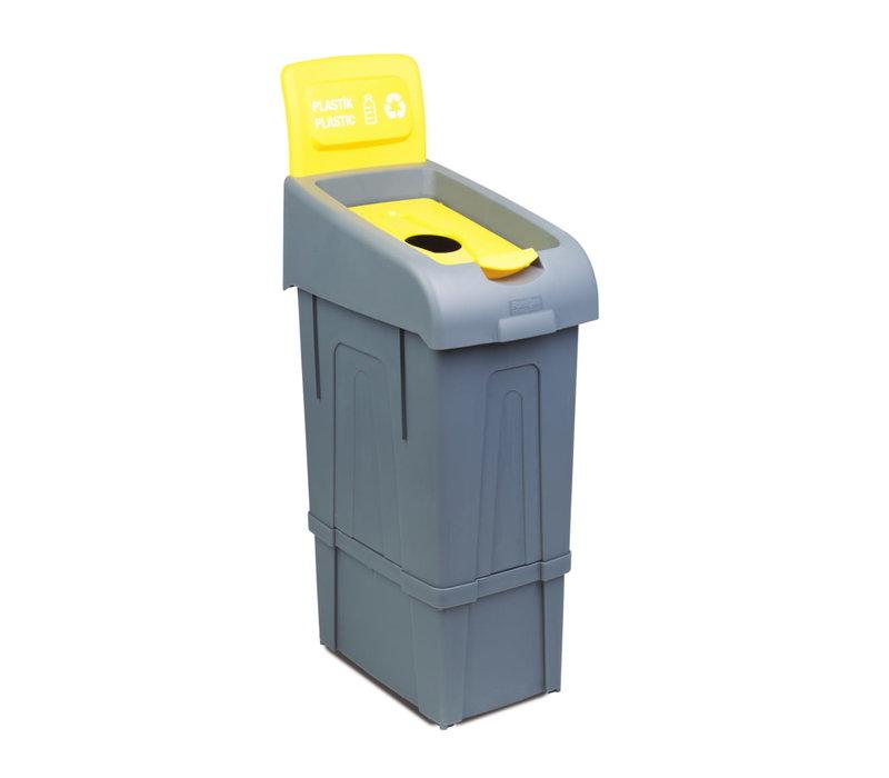 Combisteel Afvalbak voor het Scheiden van Plastic | 80 Liter  | 340x550x(H)1050 mm