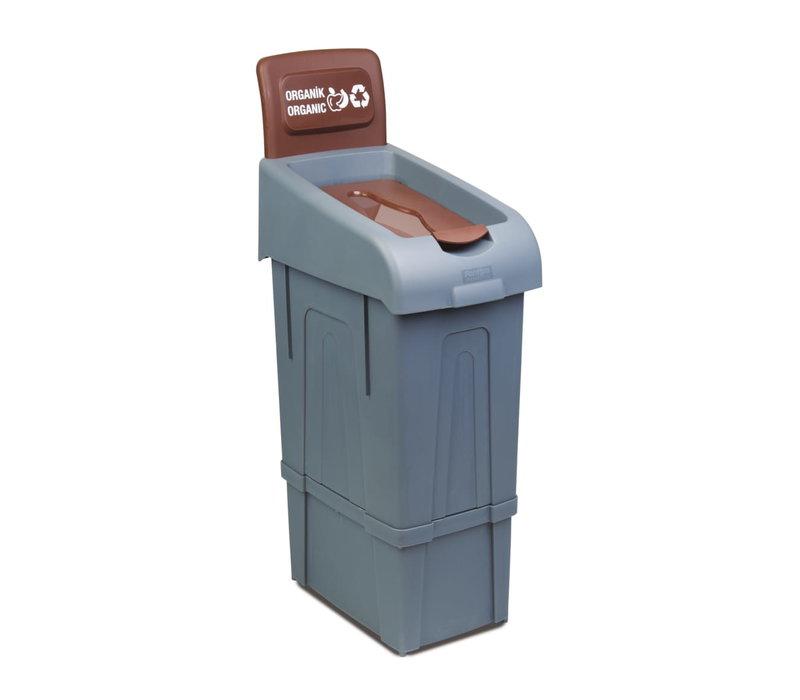 Combisteel Afvalbak voor het Scheiden van Groen | 80 Liter  | 340x550x(H)1050 mm