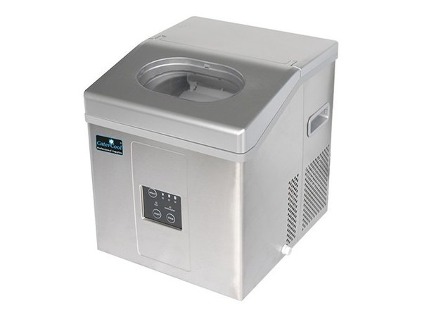 CaterCool IJsblokjes Machine 15kg/24u | Holle  IJsklontjes | 3 maten instelbaar