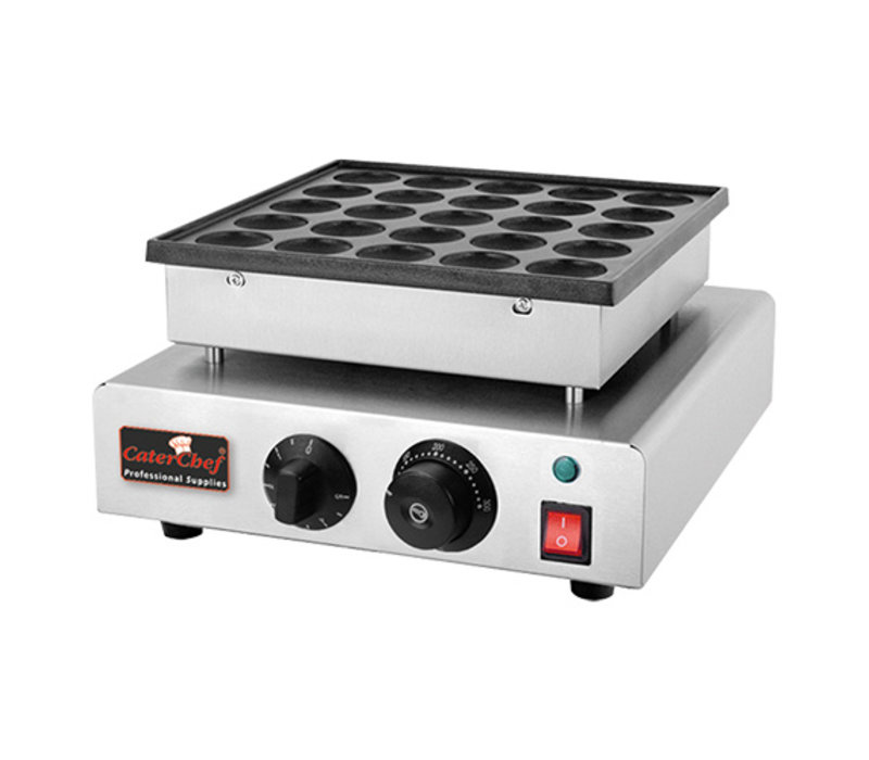 Caterchef Poffertjes baking tray | 25 poffertjes | 850W | 310x380x (H) 170mm