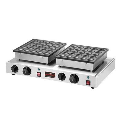 Caterchef Double Poffertjes Baking Tray | 2 x 25 poffertjes | 17000W | 620x380x (H) 170mm