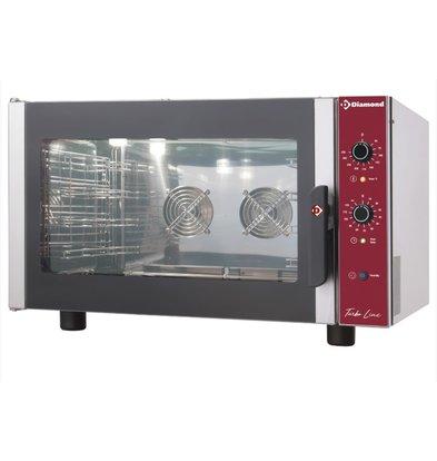 Diamond Heteluchtoven met Stoomfunctie - 660x685xh560(h)mm - voor 4x 2/3 GN