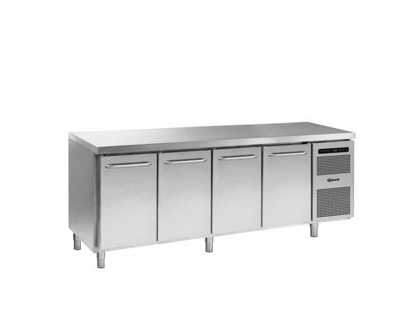 Gram Cold workbench 4 Doors | GASTRO M 2207 CSG A DL / DL / DL / DR L2 | 2163x700x (H) 885/950 mm