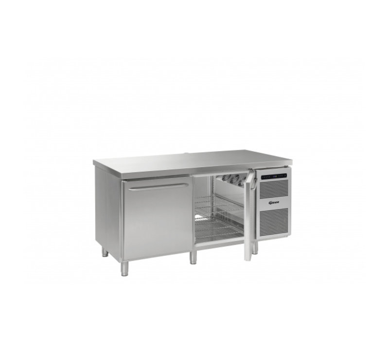Gram Cold workbench 2 Doors | Pass-on model GASTRO K 1808 D CSG A DL DR L2 | 1700x870x (H) 885/950 mm