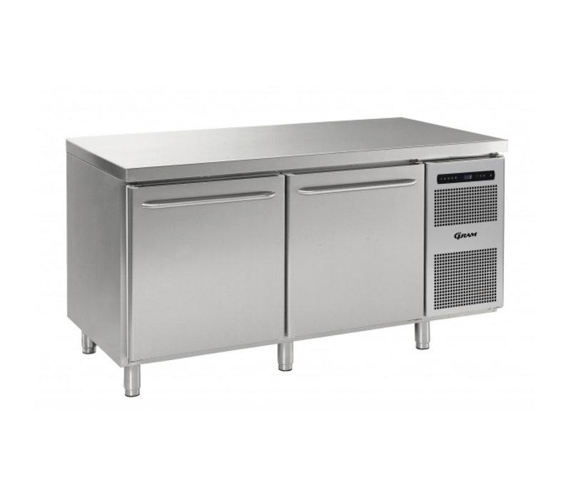 Gram Cold workbench 3 Doors | GASTRO M 1807 CSG A DL / DL / DR L2 | 1726x700x (H) 885/950 mm
