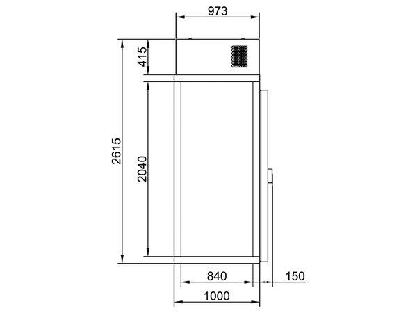 Combisteel Mini freezer | Complete Set | <-18 ° C | 1000x1000x (H) 2615mm
