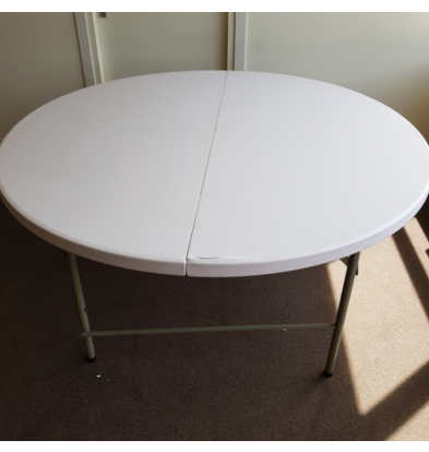 Bolero SHOW MODEL   Collapsible Round Buffet Table - Fully Collapsible to Suitcase - 76 (h) cm - 153cm ø