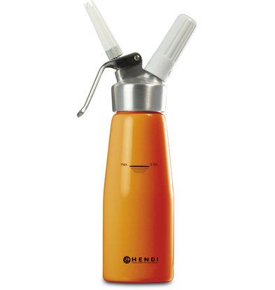 Hendi Slagroomapparaat Slagroomspuit Oranje Aluminium | Kitchen Line | 0,5 liter