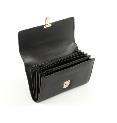 Pavelinni Leather Catering Portfolio 5 Intermediate compartments + Coin holder | With Nylon Waist Belt 200x30x105mm