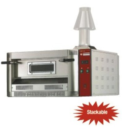 Diamond Pizza Oven Gas | Aardgas & Propaan | 4 pizza's Ø33cm | 14kW | 1060x970x(H)500mm