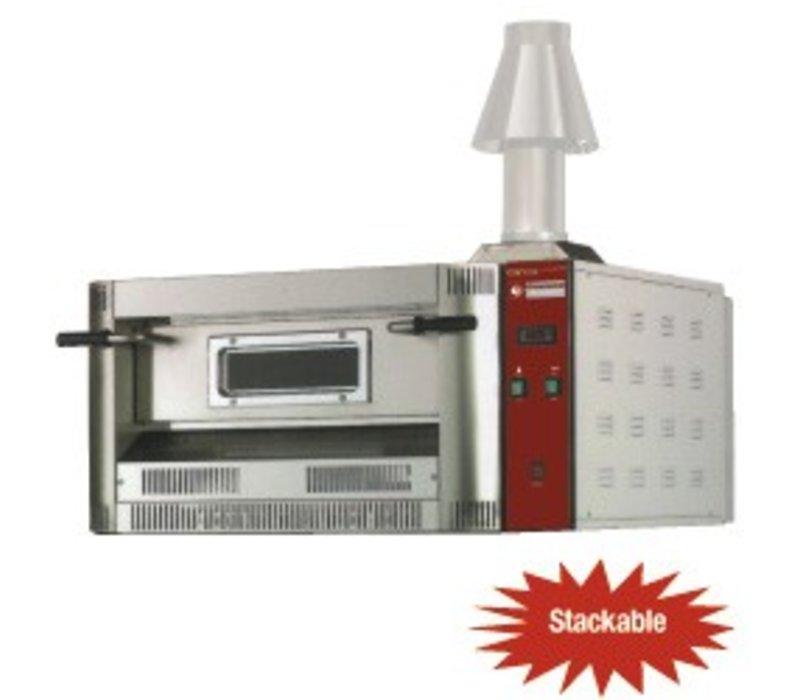 Diamond Pizza Oven Gas | Aardgas & Propaan | 6 Pizza's Ø33cm | 20Kw | 1060x1300x(H)500mm