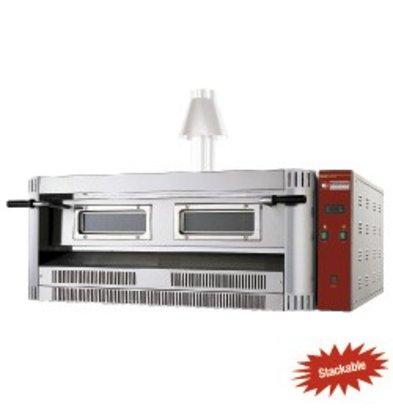 Diamond Pizza Oven Gas | Natural Gas & Propane | 9 pizzas Ø33cm | 24kW | 1390x1300x (H) 500mm