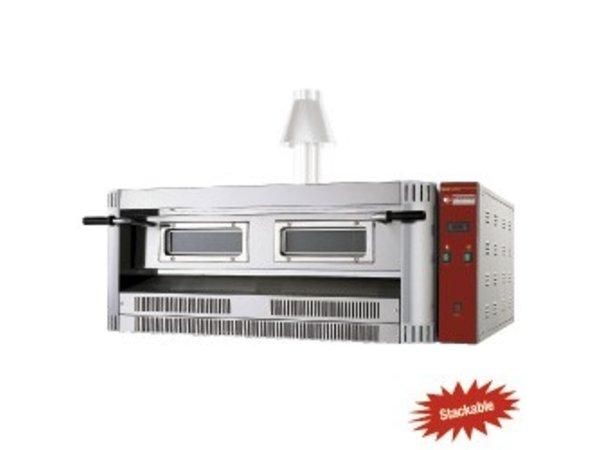 Diamond Pizza Oven Gas | 9 Pizza's Ø33cm | 24kW | 1390x1300x(H)500mm