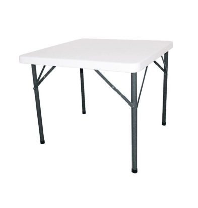 Bolero SHOW MODEL   Square Table with Collapsible Legs - Patio Table - 74 (h) x86x86cm