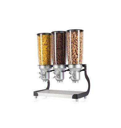 Lineoplus Ontbijtgranen Dispenser | 3x 5 Liter | 480x280x650mm