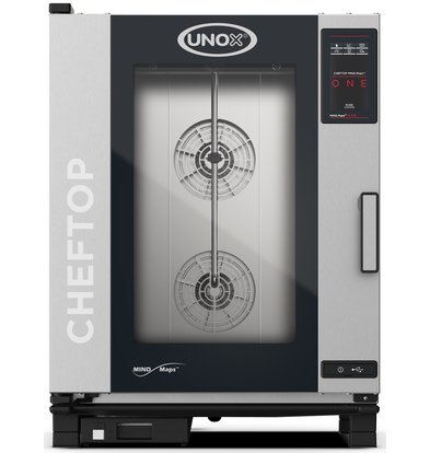 Unox Combisteamer One Electric Combi Oven | XEVC-1011-E1R | 10 x 1/1 GN | 400V | 750x773x1010 (h) mm