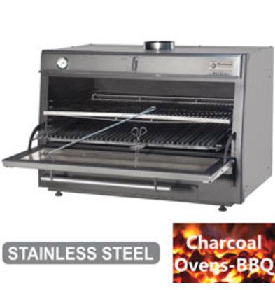 Diamond Houtskool Oven - BBQ   GN2/1 +GN1/1   150kg/uur   1200x733(1176)xh870mm