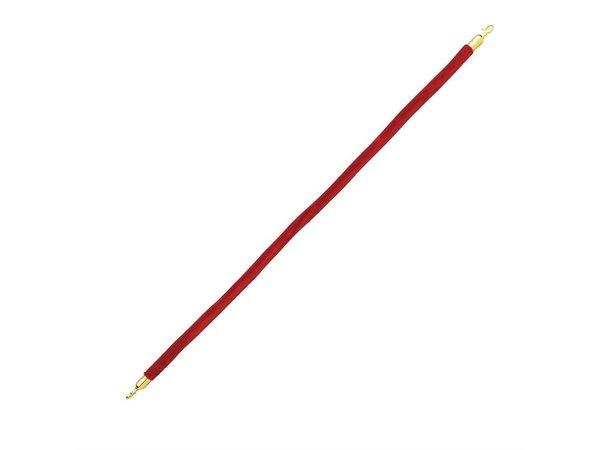Bolero Afzetkoord voor Afzetpaal - 1,5 meter - Velours Rood