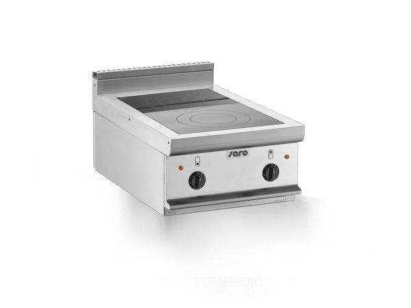 Saro Keramische Kookplaat   2 Kookzones (2,5kW)   400x700x(H)270mm