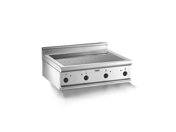 Saro Keramische Kookplaat | 4 Kookzones (2,5kW) | 800x700x(H)270mm