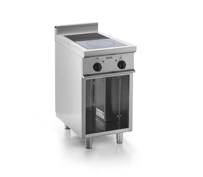 Saro Keramische Kookplaat met Onderstel | 2 Kookzones (2,5kW) | 400x700x(H)850mm