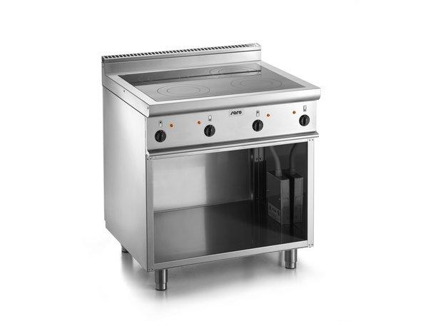 Saro Keramische Kookplaat met Onderstel | 4 Kookzones (2,5kW) | 800x700x(H)850mm