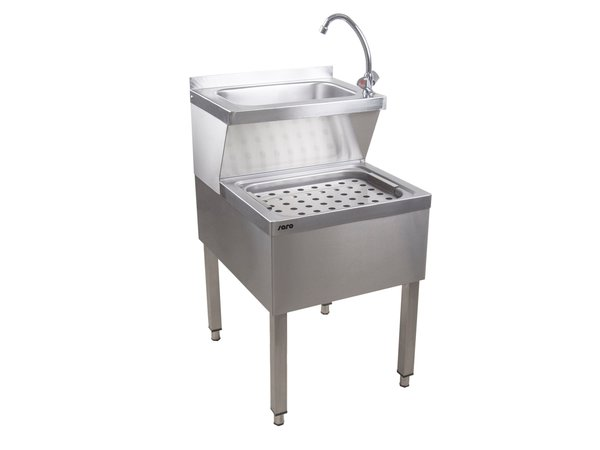Saro Stainless Steel Hand Wash Combined Sink | 500x600x (H) 850mm