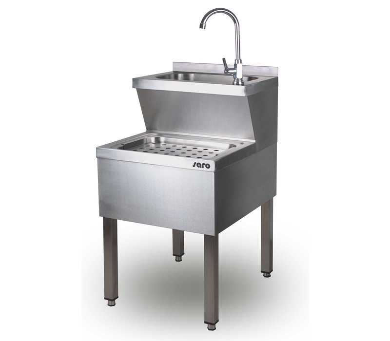 Saro Stainless Steel Hand Wash Combined Sink | 500x700x (H) 850mm