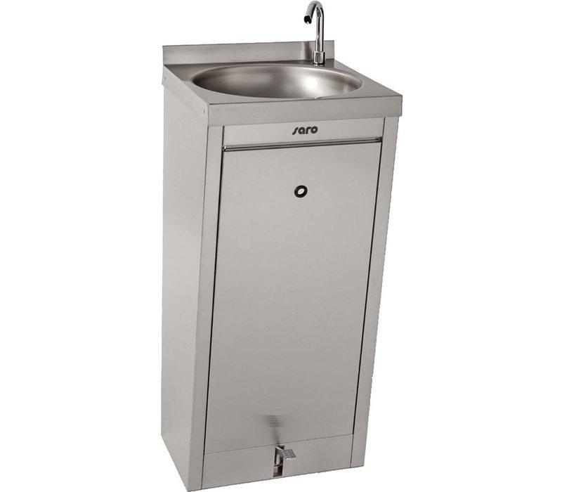 Saro Hand wash basin with foot control | 400x400x (H) 910mm
