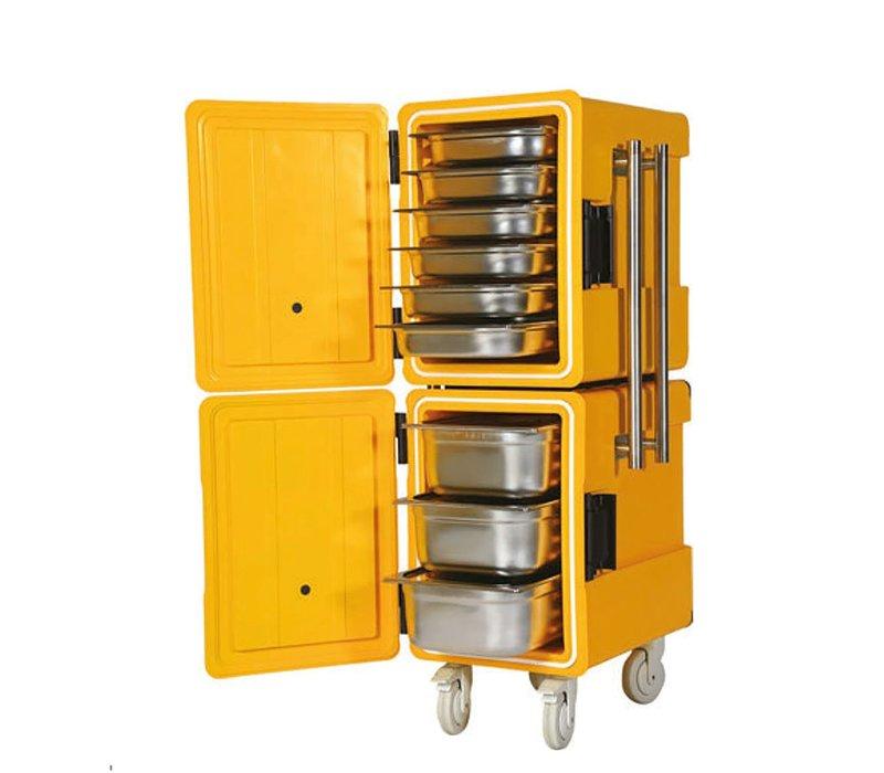 Saro Thermische Container Op Wielen | 2x 86 Liter | 1/1 GN | 520x630x(H)1350mm