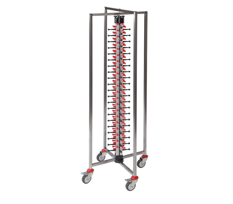 Saro Plate stacker Collapsible | Suitable for 84x Ø380mm | 480x480x (H) 1905mm