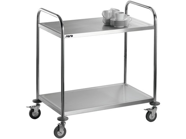 Saro Heavy Duty Serving trolley | 2 Levels | 50kg per page 860x540x (H) 940mm