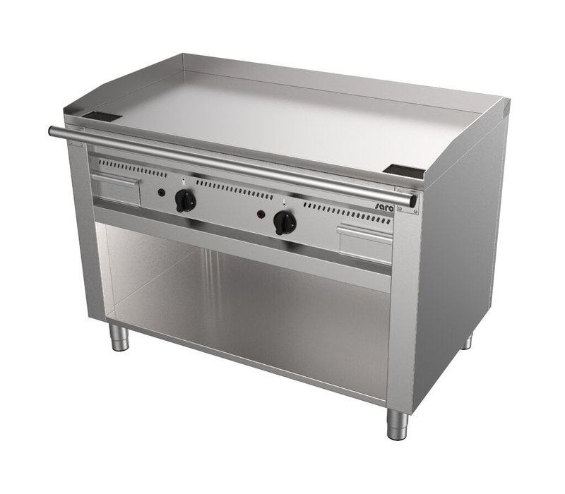 Saro Gas Teppanyaki Grill met Onderkast | 2x 5,8kW | 1200x720x850(h)mm