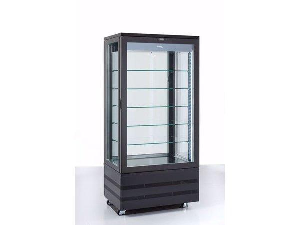 Tekna Vrieskast Met Glazen Deur | EVO900 NT Black 3LE | 4 Zijden Glas | 900x640x(H)1950mm