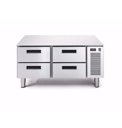 Afinox Low Freeze Workbench 2x 2 Drawers   LINEAR SNACK 702BT / S 2C   1200x685x (H) 613mm