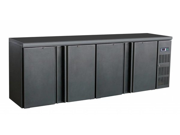 Combisteel Barkoelkast | 4 Blinde Klapdeuren | 698 Liter | 2542x513x(h)860mm