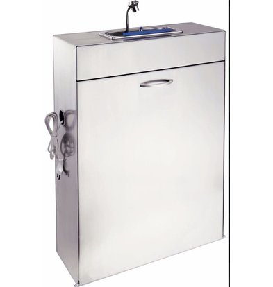Coolselect Mobiele Lepelspoelbak met Watersysteem | 10 Liter | 550x210x(H)750mm