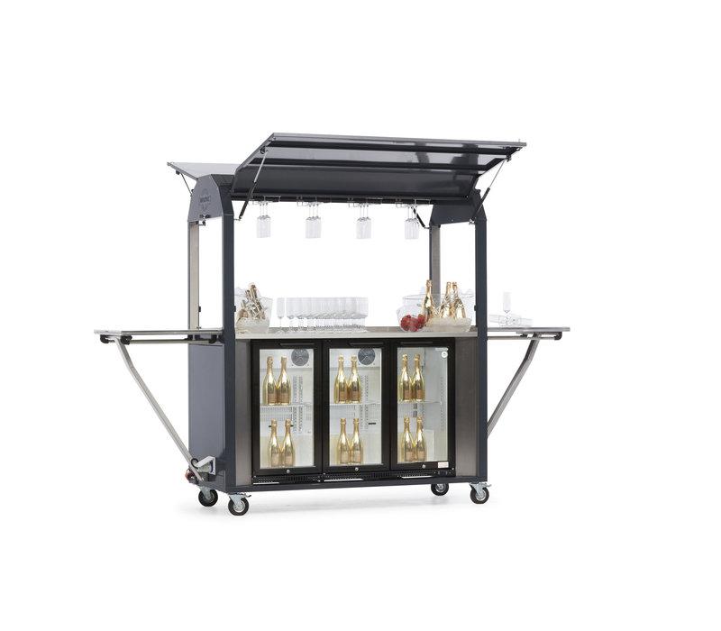 MultiWagon Coolrolly Bar | Multifunctionele Mobiele Pop-upbar | 1850x750x(H)2040mm