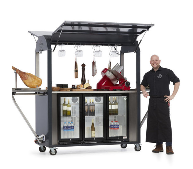 MultiWagon Coolrolly Tapasbar | Multifunctional Mobile Pop-up Tapasbar | 1850x750x (H) 2040mm