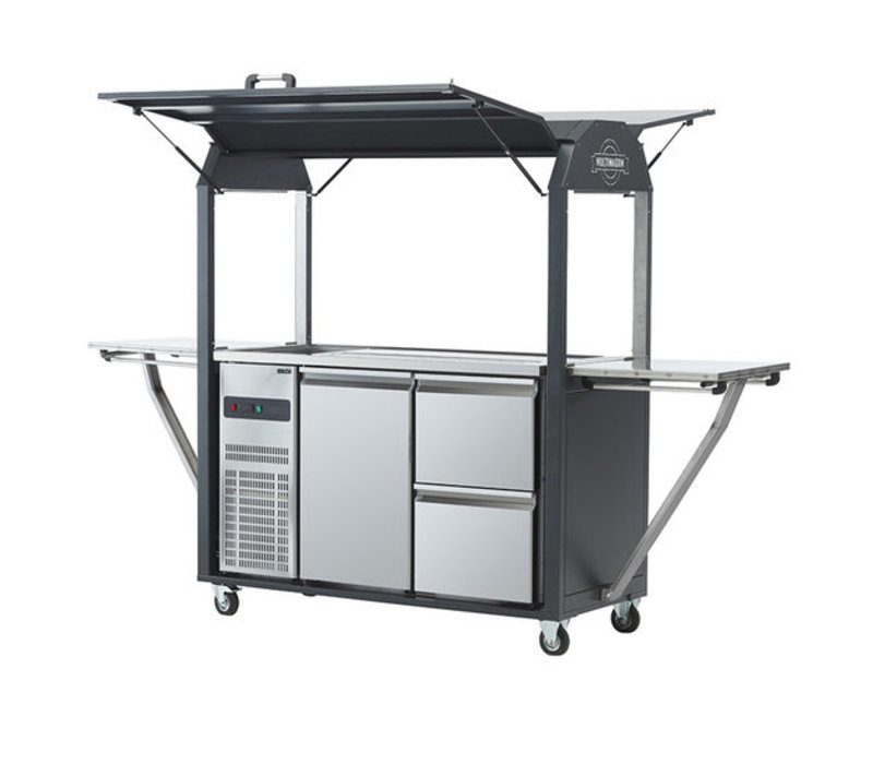 MultiWagon Coolrolly  | Multifunctionele Mobiele Pop-up Bar/tap | 1850x750x(H)2040mm