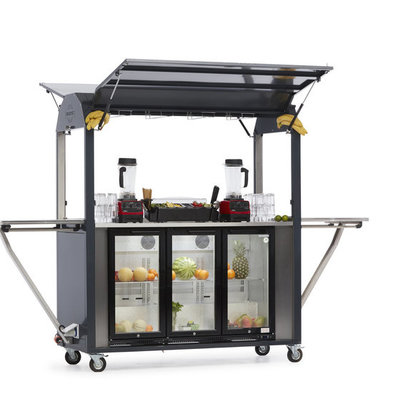 MultiWagon Coolrolly Smoothiebar  | Multifunctionele Mobiele Pop-up Smoothiebar | 1850x750x(H)2040mm